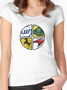 F1 - 4 Legends Women's Fitted Scoop T-Shirt