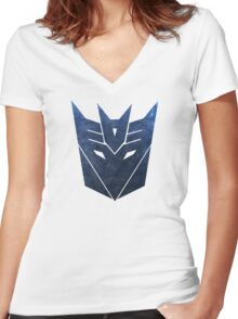 Decepticons Women's Fitted V-Neck T-Shirt