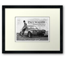 Paul Walker Framed Print
