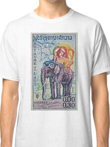 1958 Laos Elephant Stamp Classic T-Shirt