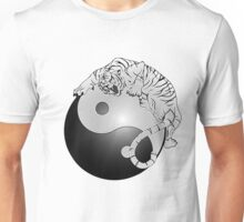 Yin And Yang Tiger Unisex T-Shirt