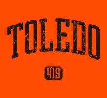 Toledo 419 (Black Print) Kids Tee