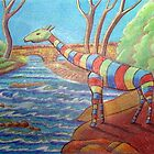 399 - BORUNA THE STRIPED GIRAFFE - 2014 by BLYTHART