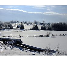 Winter In The Country Photographic Print