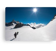 walking on the Giant Canvas Print