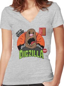 Dizilla Women's Fitted V-Neck T-Shirt