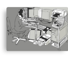COMPUTER OFFICE WORKER Canvas Print