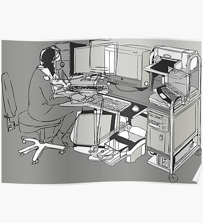 COMPUTER OFFICE WORKER Poster