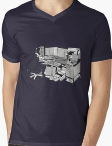COMPUTER OFFICE WORKER Mens V-Neck T-Shirt