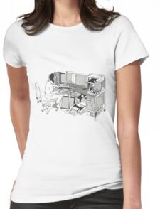 COMPUTER OFFICE WORKER Womens Fitted T-Shirt
