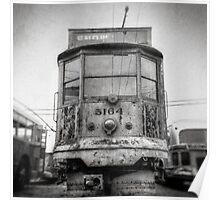 Vintage Streetcar Trolley 1081 Poster