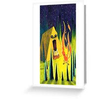 Mando Adventure Time Greeting Card