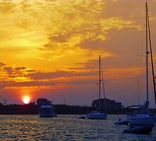 Great Salt Pond sunrise by WHYankee