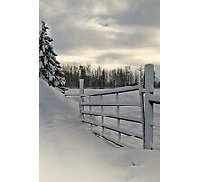 Winter Gateway Photographic Print