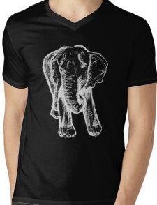 Elephant Sketch (Light) Mens V-Neck T-Shirt