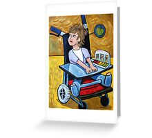 Girl In Cast Greeting Card