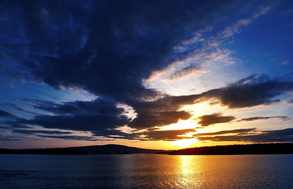 Sunset over Cadillac Mountain, Acadia National Park by WHYankee