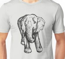 Elephant Sketch (Dark) Unisex T-Shirt