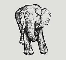 Elephant Sketch (Dark) Unisex T-Shirt