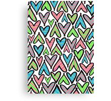 Hearts and Strips Canvas Print