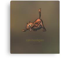 Cat-hooligan Canvas Print