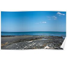 Vibrant Northumberland Coastal Landscape Poster