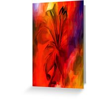 sunset and vine Greeting Card