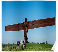 Tourists viewing the Angel of the North Poster