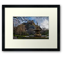 The castle and the fountain Framed Print