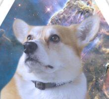 Space Corgi Sticker