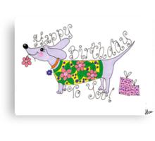 sausage birthday card Canvas Print