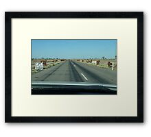 You know you're in the country when..... Framed Print