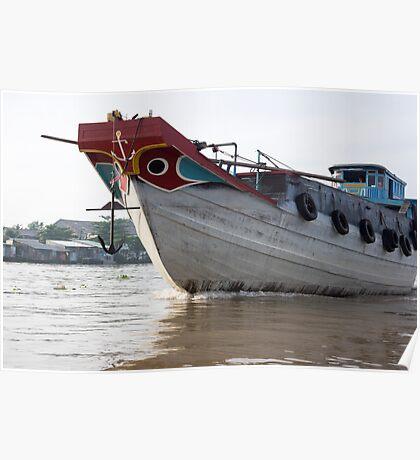Mekong boats Poster