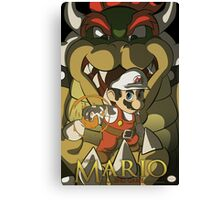 Super Mario: End Game Canvas Print