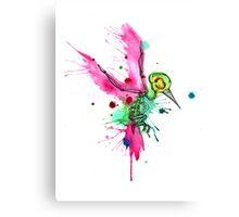 Hummingbird Skeleton Watercolor/Pen&Ink Canvas Print