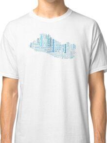 El Salvador mapa-ciudades Classic T-Shirt