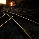 Tracks at sunset. by Billlee