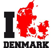 I Love Denmark Danmark by Style-O-Mat