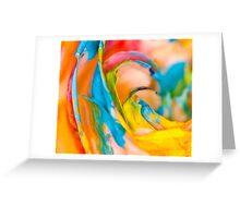 Swirling Rainbow.  Greeting Card