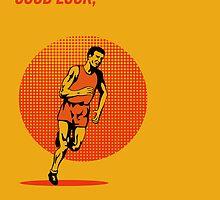 Runner Running Marathon Poster by patrimonio