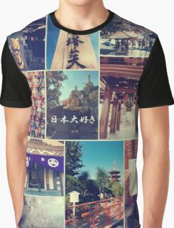 Kawasaki Daishi Buddhist Temple Japan Vintage Collage Graphic T-Shirt