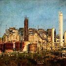 Abandoned refinery by Celeste Mookherjee
