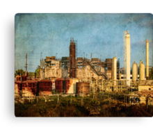 Abandoned refinery Canvas Print