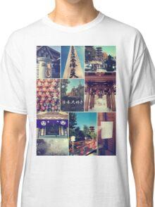 Kawasaki Daishi Buddhist Temple Japan Vintage Collage Classic T-Shirt