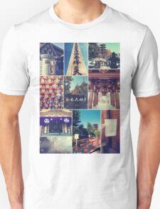 Kawasaki Daishi Buddhist Temple Japan Vintage Collage Unisex T-Shirt