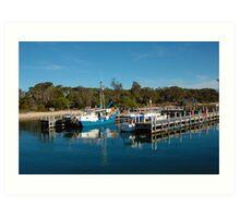 deep blue, Boats Lakes entrance Art Print