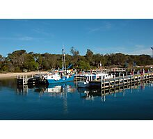 deep blue, Boats Lakes entrance Photographic Print