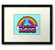 Bubble Gum Speed Metal Framed Print