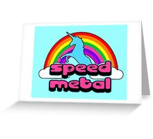 Bubble Gum Speed Metal Greeting Card