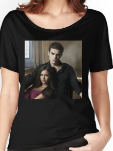 Stefan and Elena The Vampire Diaries Women's Relaxed Fit T-Shirt